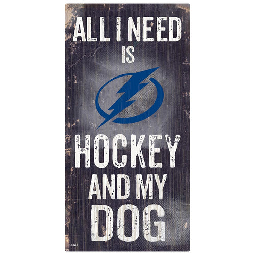 Tampa Bay Lightning Hockey and My Dog Sign