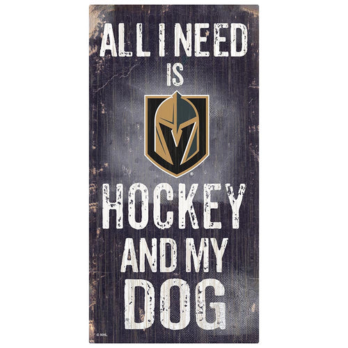 Vegas Golden Knights Hockey and My Dog Sign
