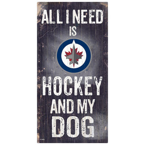 Winnipeg Jets Hockey and My Dog Sign