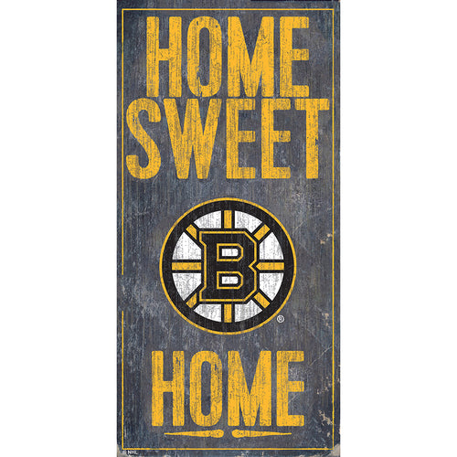 Boston Bruins Home Sweet Home 6x12
