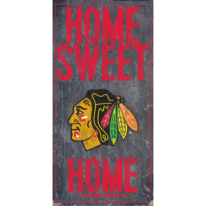 Chicago Blackhawks Home Sweet Home 6x12