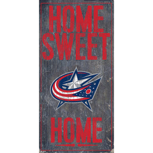 Columbus Blue Jackets Home Sweet Home 6x12