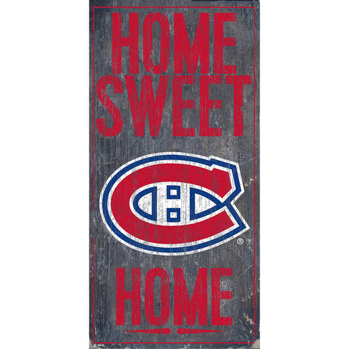 Montreal Canadiens Home Sweet Home 6x12