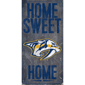 Nashville Predators Home Sweet Home 6x12