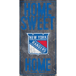 New York Rangers Home Sweet Home 6x12