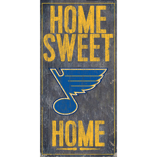 St. Louis Blues Home Sweet Home 6x12