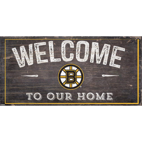 Boston Bruins Welcome Distressed 6x12