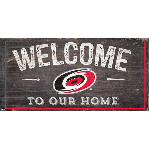 Carolina Hurricanes Welcome Distressed 6x12