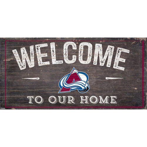 Colorado Avalanche Welcome Distressed 6x12