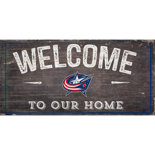 Columbus Blue Jackets Welcome Distressed 6x12