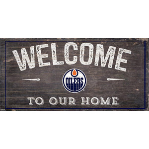 Edmonton Oilers Welcome Distressed 6x12