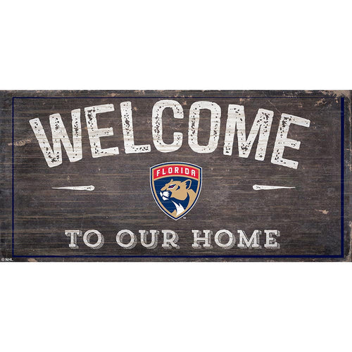 Florida Panthers Welcome Distressed 6x12