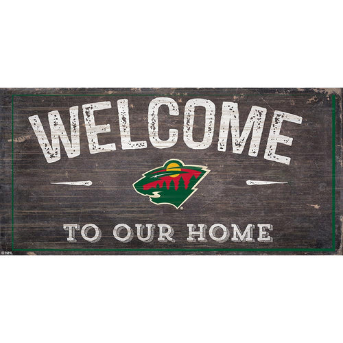 Minnesota Wild Welcome Distressed 6x12
