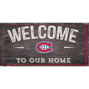 Montreal Canadiens Welcome Distressed 6x12