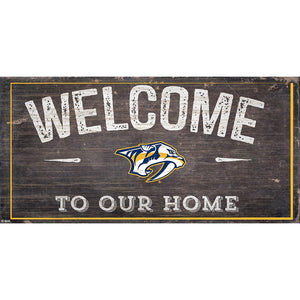 Nashville Predators Welcome Distressed 6x12