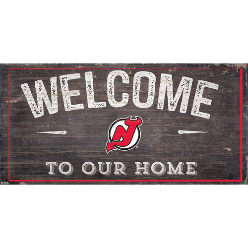 New Jersey Devils Welcome Distressed 6x12