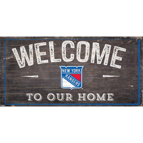 New York Rangers Welcome Distressed 6x12