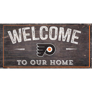 Philadelphia Flyers Welcome Distressed 6x12