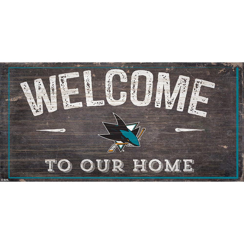 San Jose Sharks Welcome Distressed 6x12