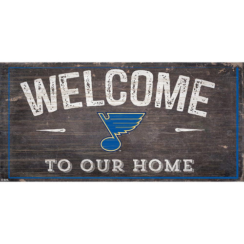 St.Louis Blues Welcome Distressed 6x12