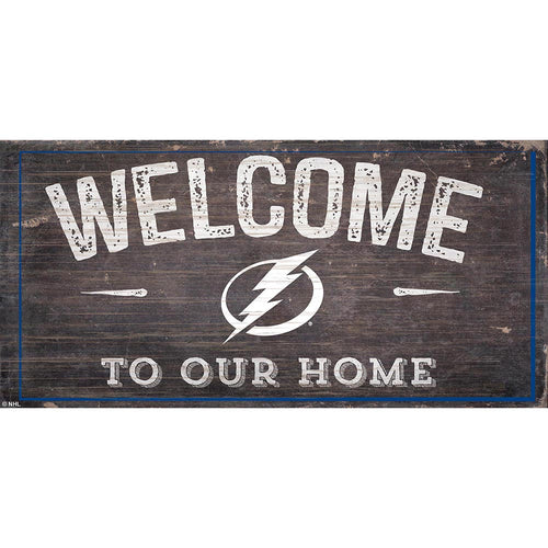 Tampa Bay Lightning Welcome Distressed 6x12