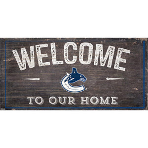 Vancouver Canucks Welcome Distressed 6x12