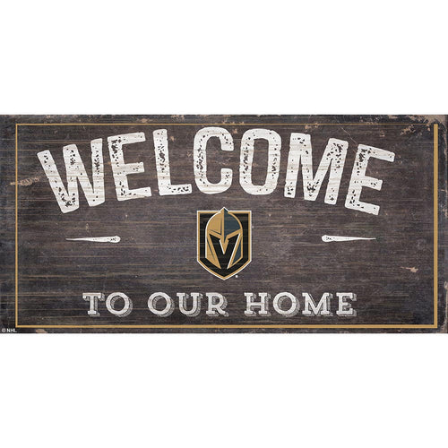 Vegas Golden Knights Welcome Distressed 6x12