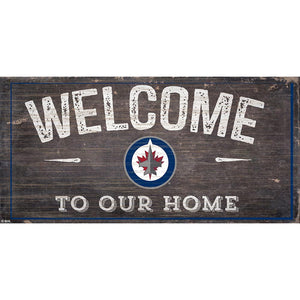 Winnipeg Jets Welcome Distressed 6x12