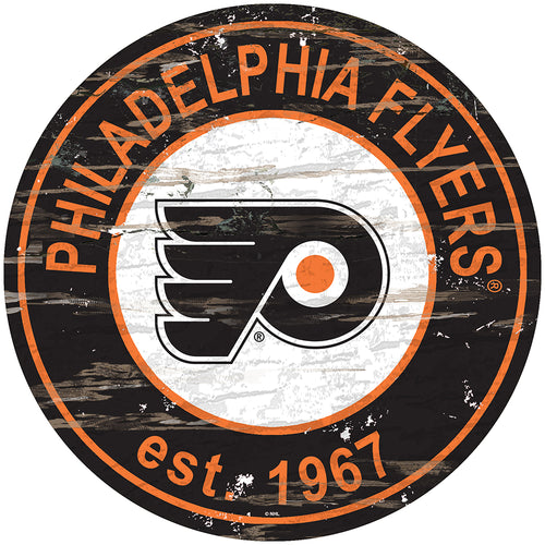 Philadelphia Flyers Distressed Round Sign
