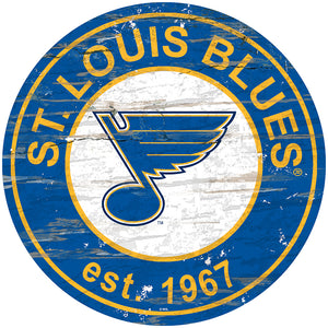 St.Louis Blues Distressed Round Sign