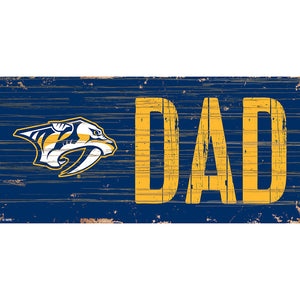 Nashville Predators DAD 6x12 Sign