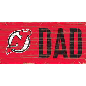 New Jersey Devils DAD 6x12 Sign