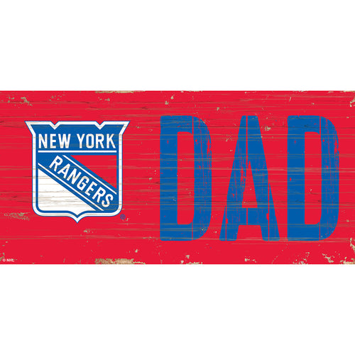 New York Rangers DAD 6x12 Sign
