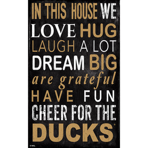 Anaheim Ducks In This House 11x19 Sign