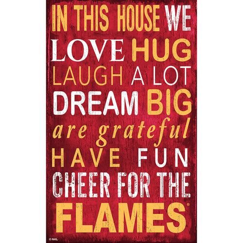Calgary Flames In This House 11x19 Sign