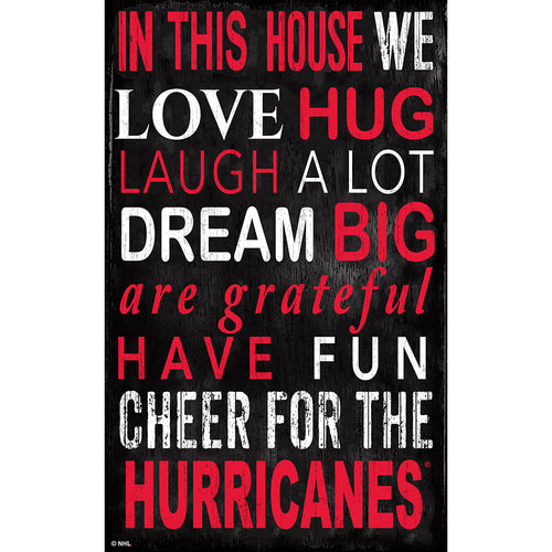 Carolina Hurricanes In This House 11x19 Sign