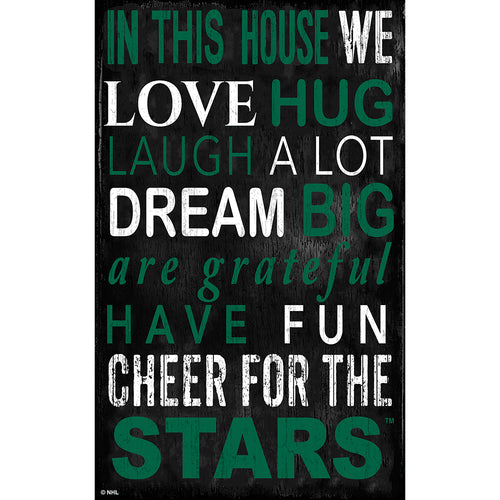 Dallas Stars In This House 11x19 Sign