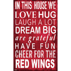Detroit Red Wings In This House 11x19 Sign