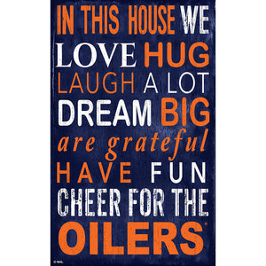Edmonton Oilers In This House 11x19 Sign