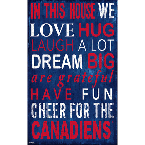 Montreal Canadiens In This House 11x19 Sign