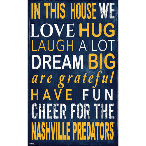Nashville Predators In This House 11x19 Sign