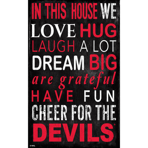 New Jersey Devils In This House 11x19 Sign