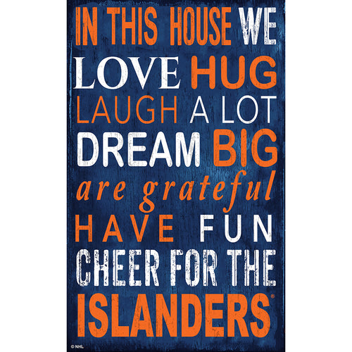 New York Islanders In This House 11x19 Sign