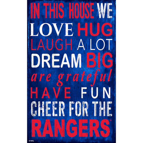 New York Rangers In This House 11x19 Sign