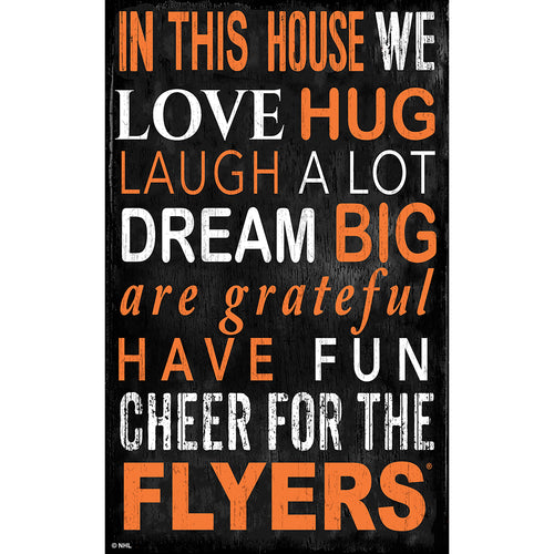 Philadelphia Flyers In This House 11x19 Sign