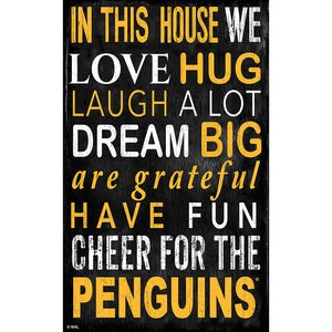 Pittsburgh Penguins In This House 11x19 Sign
