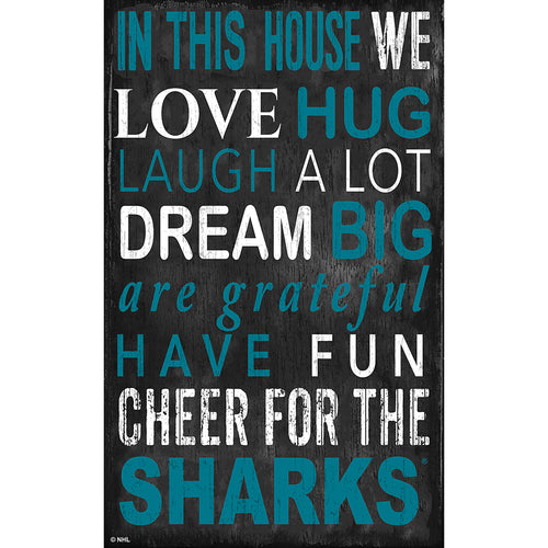 San Jose Sharks In This House 11x19 Sign