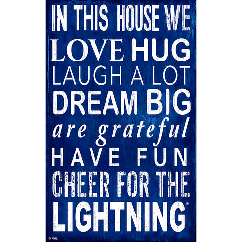 Tampa Bay Lightning In This House 11x19 Sign