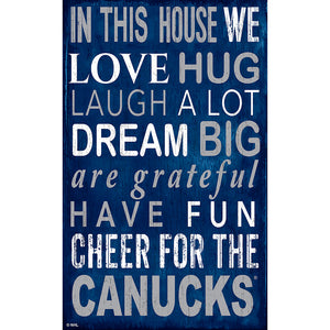 Vancouver Canucks In This House 11x19 Sign