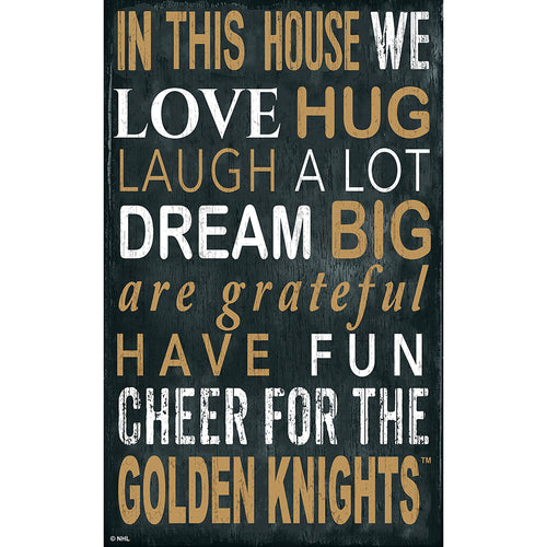 Vegas Golden Knights In This House 11x19 Sign